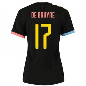 Manchester City Cup Authentic Away Shirt 2019-20 - Womens with De Bruyne 17 printing