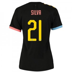 Manchester City Cup Authentic Away Shirt 2019-20 - Womens with Silva 21 printing