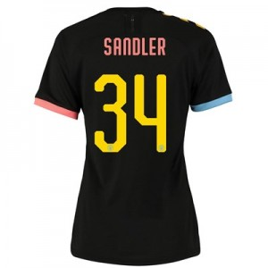 Manchester City Cup Authentic Away Shirt 2019-20 - Womens with Sandler 34 printing
