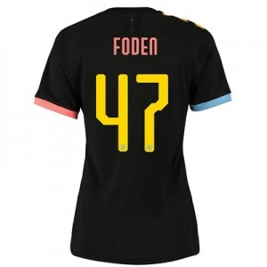 Manchester City Cup Authentic Away Shirt 2019-20 - Womens with Foden 47 printing