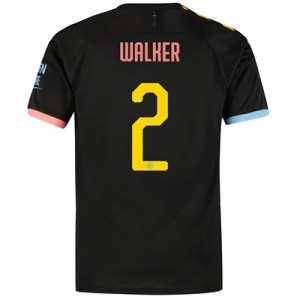 Manchester City Cup Away Shirt 2019-20 with Walker 2 printing