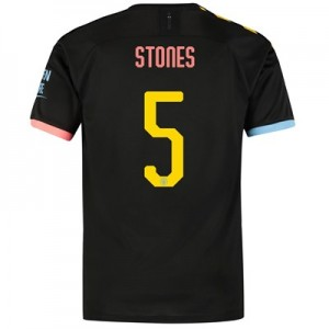 Manchester City Cup Away Shirt 2019-20 with Stones 5 printing