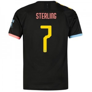 Manchester City Cup Away Shirt 2019-20 with Sterling 7 printing