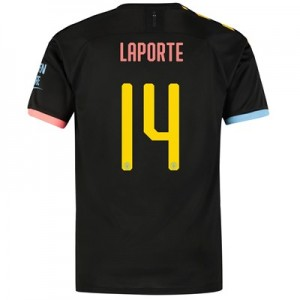 Manchester City Cup Away Shirt 2019-20 with Laporte 14 printing