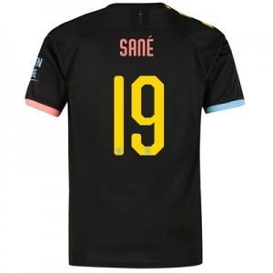 Manchester City Cup Away Shirt 2019-20 with Sané 19 printing