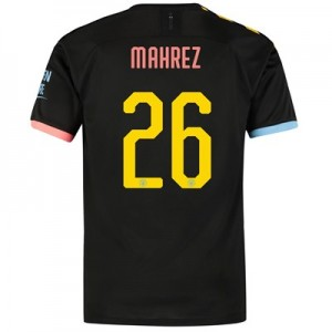 Manchester City Cup Away Shirt 2019-20 with Mahrez 26 printing