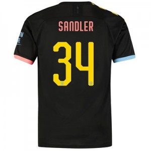 Manchester City Cup Away Shirt 2019-20 with Sandler 34 printing