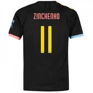 Manchester City Cup Away Shirt 2019-20 with Zinchenko 11 printing