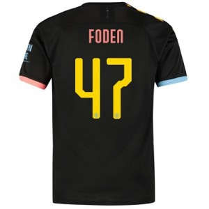 Manchester City Cup Away Shirt 2019-20 with Foden 47 printing