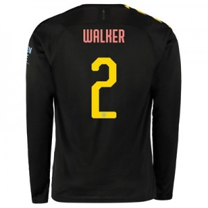 Manchester City Cup Away Shirt 2019-20 - Long Sleeve with Walker 2 printing