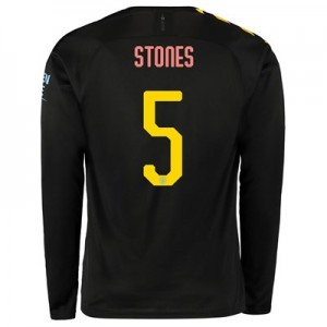 Manchester City Cup Away Shirt 2019-20 - Long Sleeve with Stones 5 printing