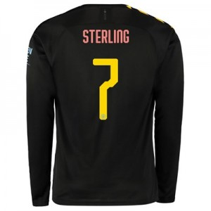 Manchester City Cup Away Shirt 2019-20 - Long Sleeve with Sterling 7 printing