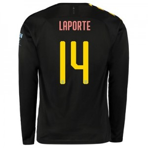 Manchester City Cup Away Shirt 2019-20 - Long Sleeve with Laporte 14 printing