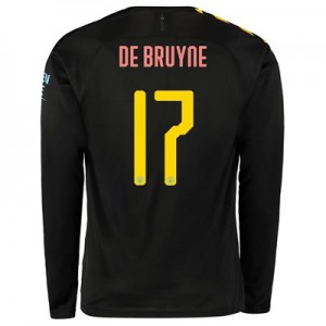 Manchester City Cup Away Shirt 2019-20 - Long Sleeve with De Bruyne 17 printing