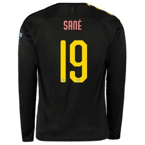 Manchester City Cup Away Shirt 2019-20 - Long Sleeve with Sané 19 printing