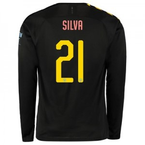 Manchester City Cup Away Shirt 2019-20 - Long Sleeve with Silva 21 printing