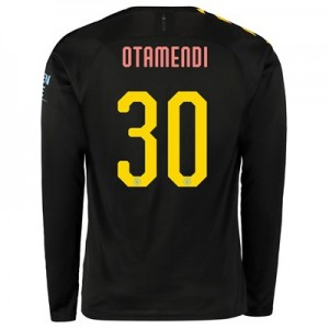 Manchester City Cup Away Shirt 2019-20 - Long Sleeve with Otamendi 30 printing