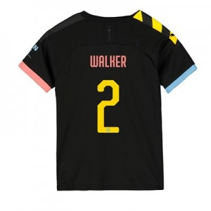 Manchester City Cup Away Shirt 2019-20 - Kids with Walker 2 printing