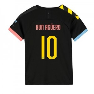 Manchester City Cup Away Shirt 2019-20 - Kids with Kun Agüero  10 printing
