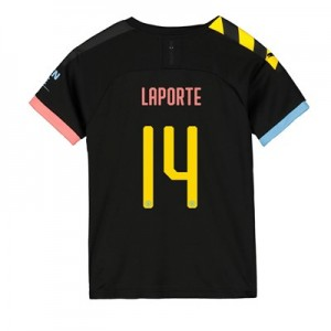 Manchester City Cup Away Shirt 2019-20 - Kids with Laporte 14 printing