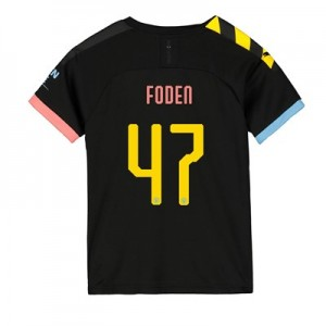 Manchester City Cup Away Shirt 2019-20 - Kids with Foden 47 printing