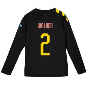 Manchester City Cup Away Shirt 2019-20 - Long Sleeve - Kids with Walker 2 printing