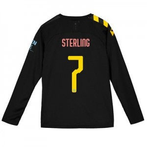 Manchester City Cup Away Shirt 2019-20 - Long Sleeve - Kids with Sterling 7 printing
