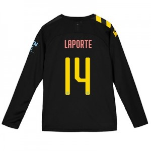 Manchester City Cup Away Shirt 2019-20 - Long Sleeve - Kids with Laporte 14 printing