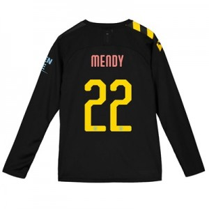 Manchester City Cup Away Shirt 2019-20 - Long Sleeve - Kids with Mendy 22 printing
