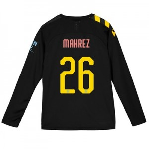 Manchester City Cup Away Shirt 2019-20 - Long Sleeve - Kids with Mahrez 26 printing