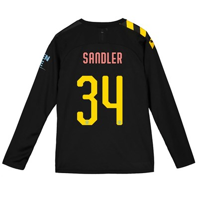 Manchester City Cup Away Shirt 2019-20 - Long Sleeve - Kids with Sandler 34 printing