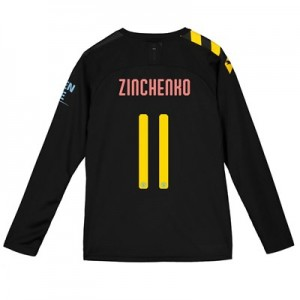Manchester City Cup Away Shirt 2019-20 - Long Sleeve - Kids with Zinchenko 11 printing