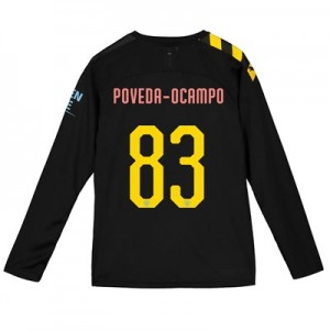 Manchester City Cup Away Shirt 2019-20 - Long Sleeve - Kids with Poveda-Ocampo 83 printing