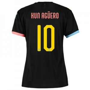 Manchester City Cup Away Shirt 2019-20 - Womens with Kun Agüero  10 printing