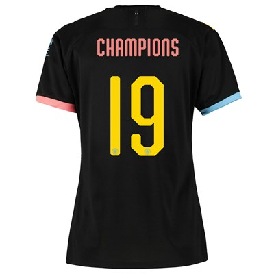 Manchester City Cup Away Shirt 2019-20 - Womens with Champions 19 printing