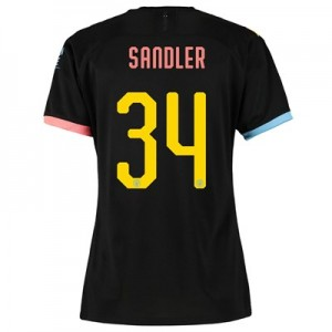 Manchester City Cup Away Shirt 2019-20 - Womens with Sandler 34 printing
