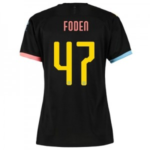 Manchester City Cup Away Shirt 2019-20 - Womens with Foden 47 printing