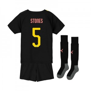Manchester City Cup Away Mini Kit 2019-20 with Stones 5 printing