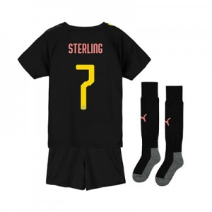 Manchester City Cup Away Mini Kit 2019-20 with Sterling 7 printing