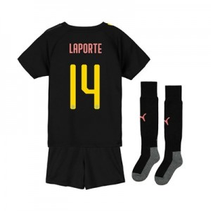 Manchester City Cup Away Mini Kit 2019-20 with Laporte 14 printing