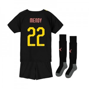 Manchester City Cup Away Mini Kit 2019-20 with Mendy 22 printing