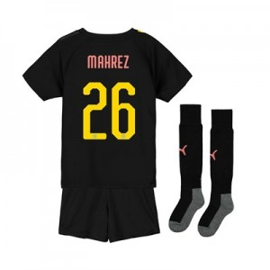 Manchester City Cup Away Mini Kit 2019-20 with Mahrez 26 printing