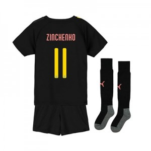 Manchester City Cup Away Mini Kit 2019-20 with Zinchenko 11 printing