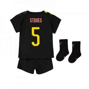 Manchester City Cup Away Baby Kit 2019-20 with Stones 5 printing