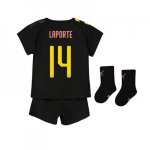 Manchester City Cup Away Baby Kit 2019-20 with Laporte 14 printing