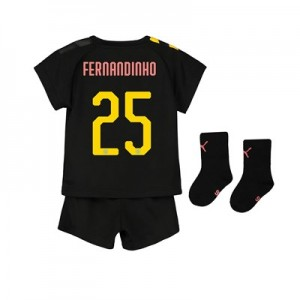 Manchester City Cup Away Baby Kit 2019-20 with Fernandinho 25 printing