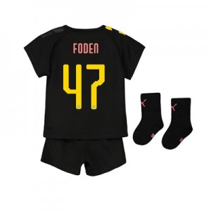 Manchester City Cup Away Baby Kit 2019-20 with Foden 47 printing