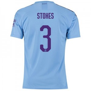 Manchester City Cup Authentic Home Shirt 2019-20 with Stokes 3 printing