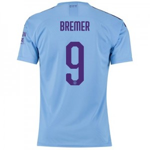 Manchester City Cup Authentic Home Shirt 2019-20 with Bremer 9 printing