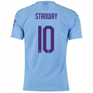 Manchester City Cup Authentic Home Shirt 2019-20 with Stanway 10 printing